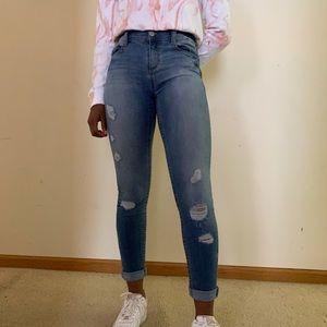 Mudd FLX Stretch Ripped Skinny Jeans